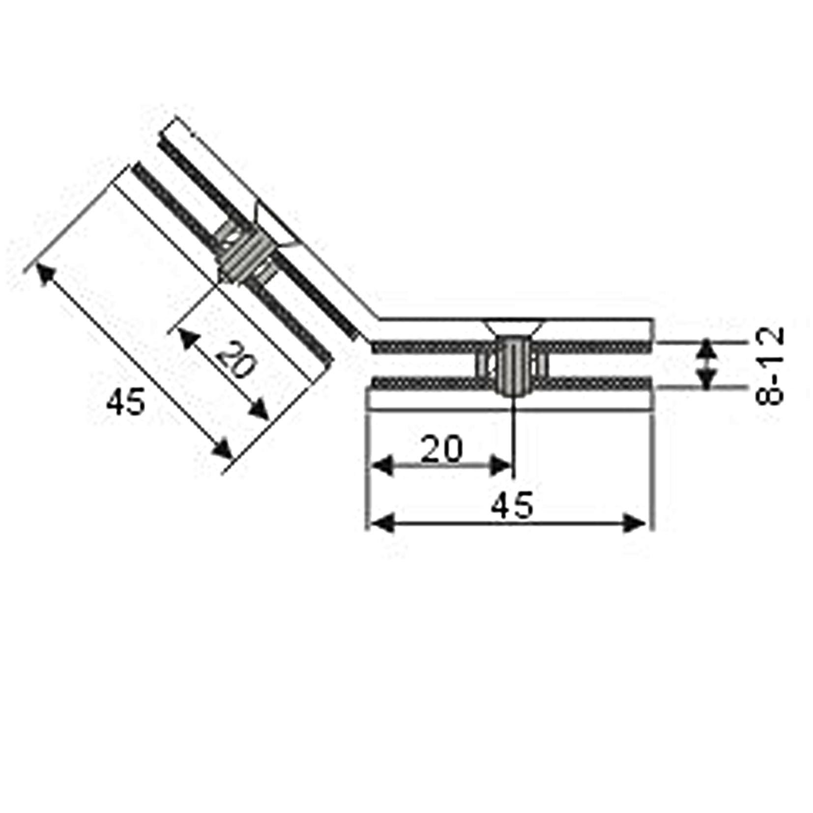 Zinc Alloy Arc-Shaped Double Sides Glass Partition Clip (CR-G10)
