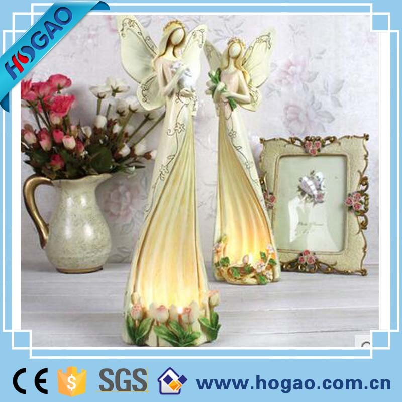 New Design Tabletop Resin Angel Candle Holder for Home Decor