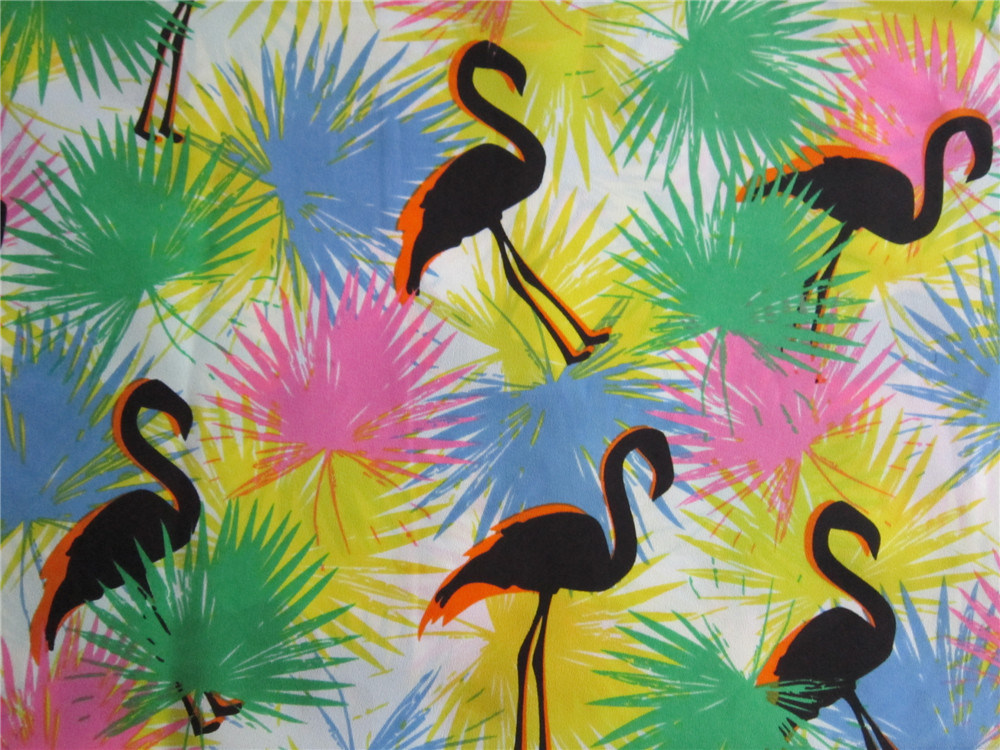 Printed Polyester Chiffen Fabric with Spandex (XSC005)
