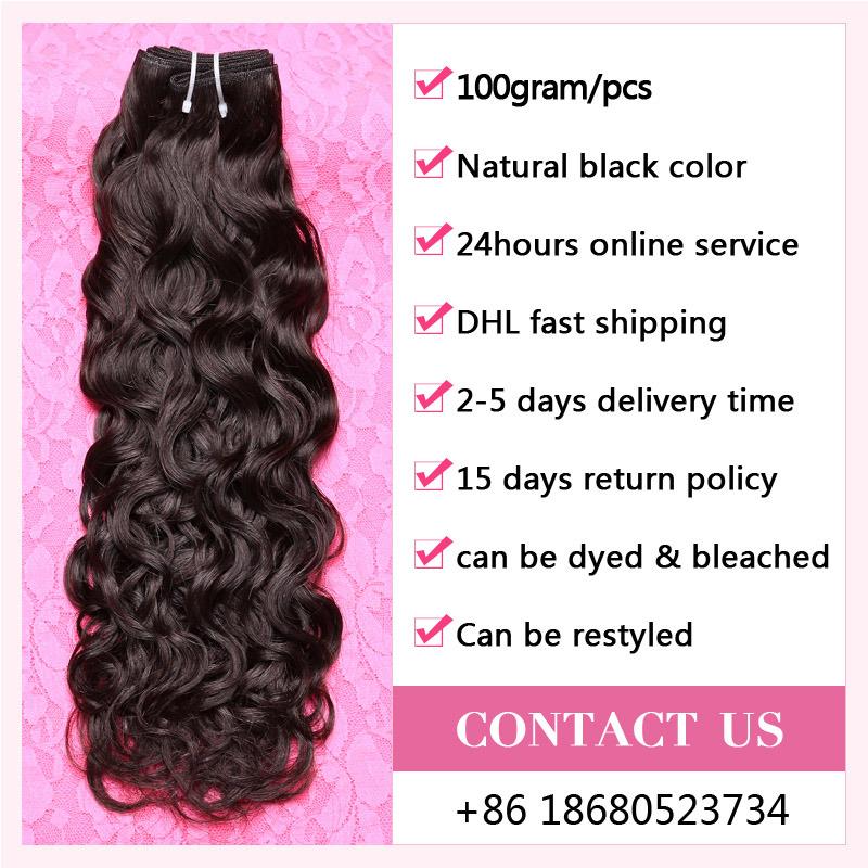 Aliexpress Hair Peruvian Water Wave Virgin Hair Waving Natural Human Hair (QB-PVRH-BW)