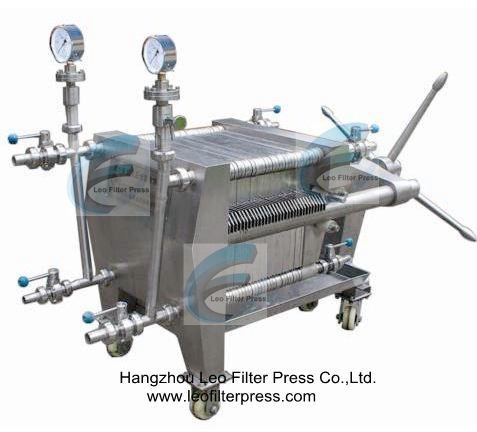 Leo Filter Stainless Steel Filter Press, Ss Plate and Frame Filter Press
