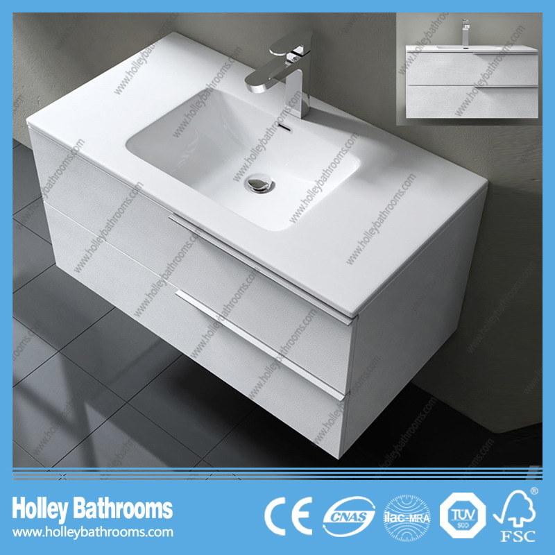 European Style MDF Extravagant Modern Bathroom Furniture with Two Side Vanity (BF112N)