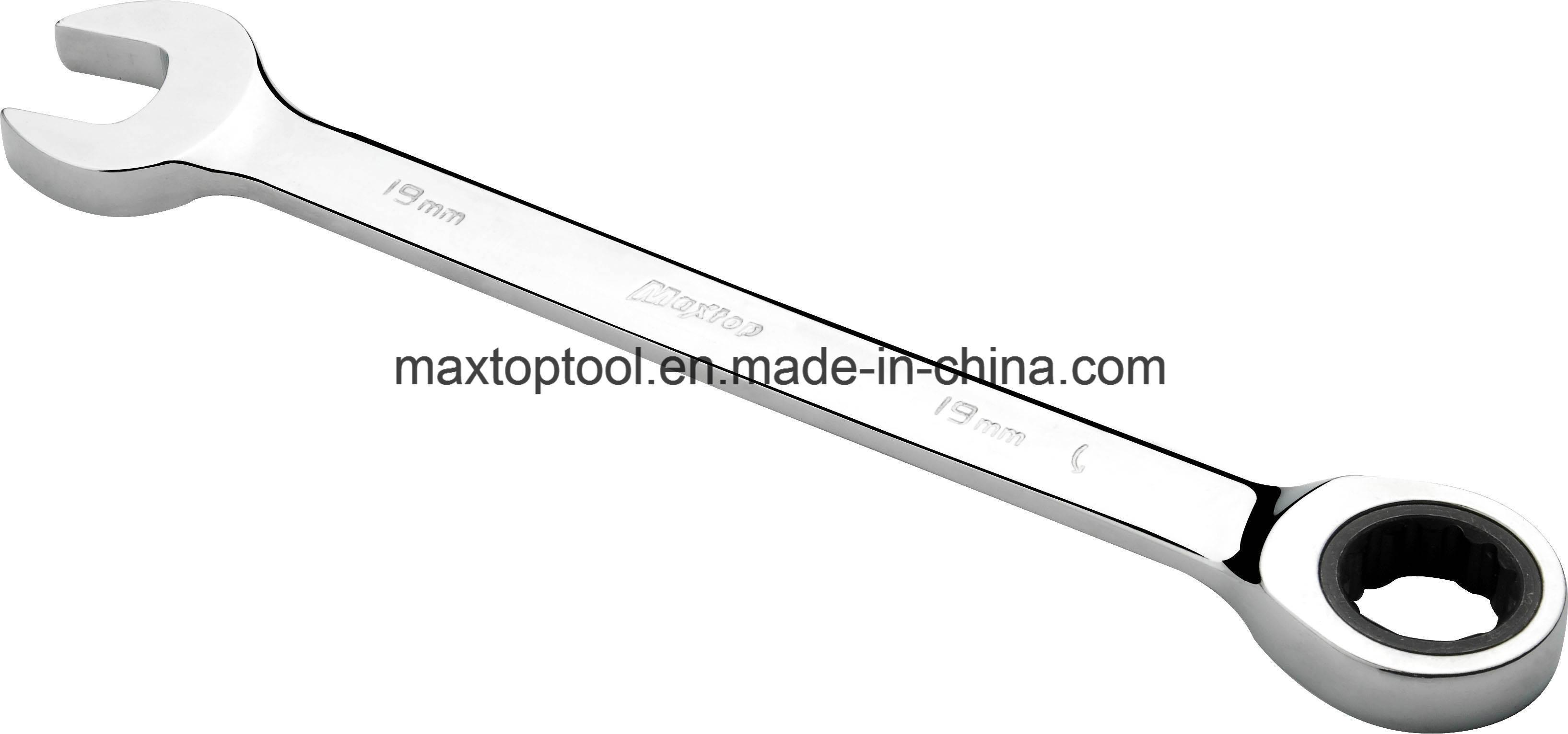 DIN Standard GS Certificate Gear Ratchet Combination Wrench