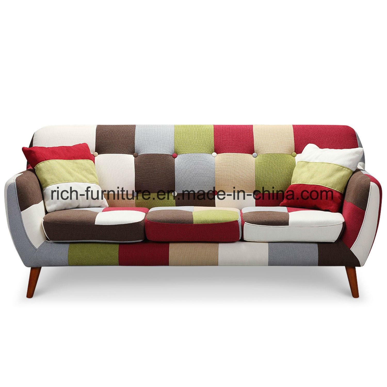 High Quality Italian Design Living Room Hotel Lobby Patchwork Modern Fabric Sofa