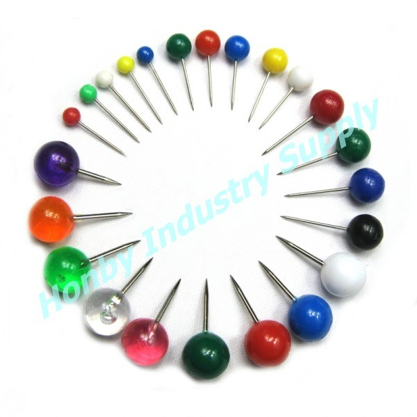 Hot Customizable Color Ball Head Map Pins