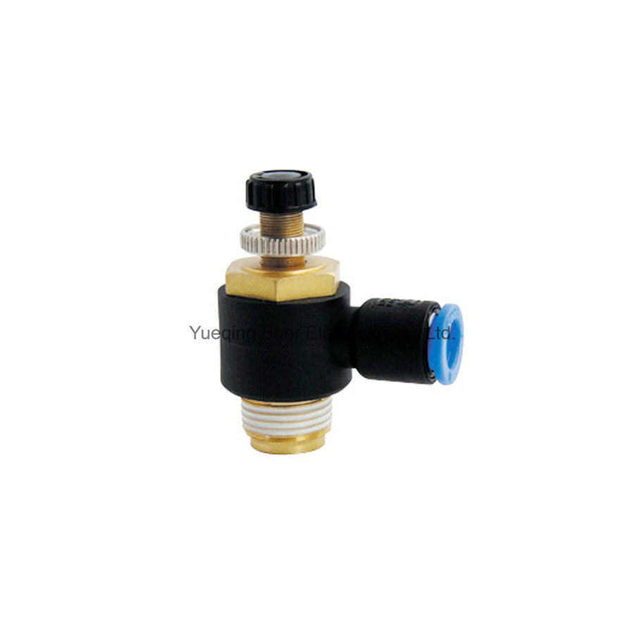 L-Type Single Way Valve Throttle Control Valve Pneumatic Components