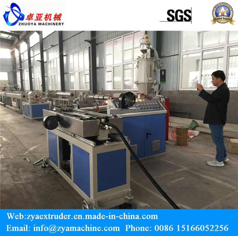PE/PVC/PP SWC Single Wall Corrugated Pipe Line Making Machine