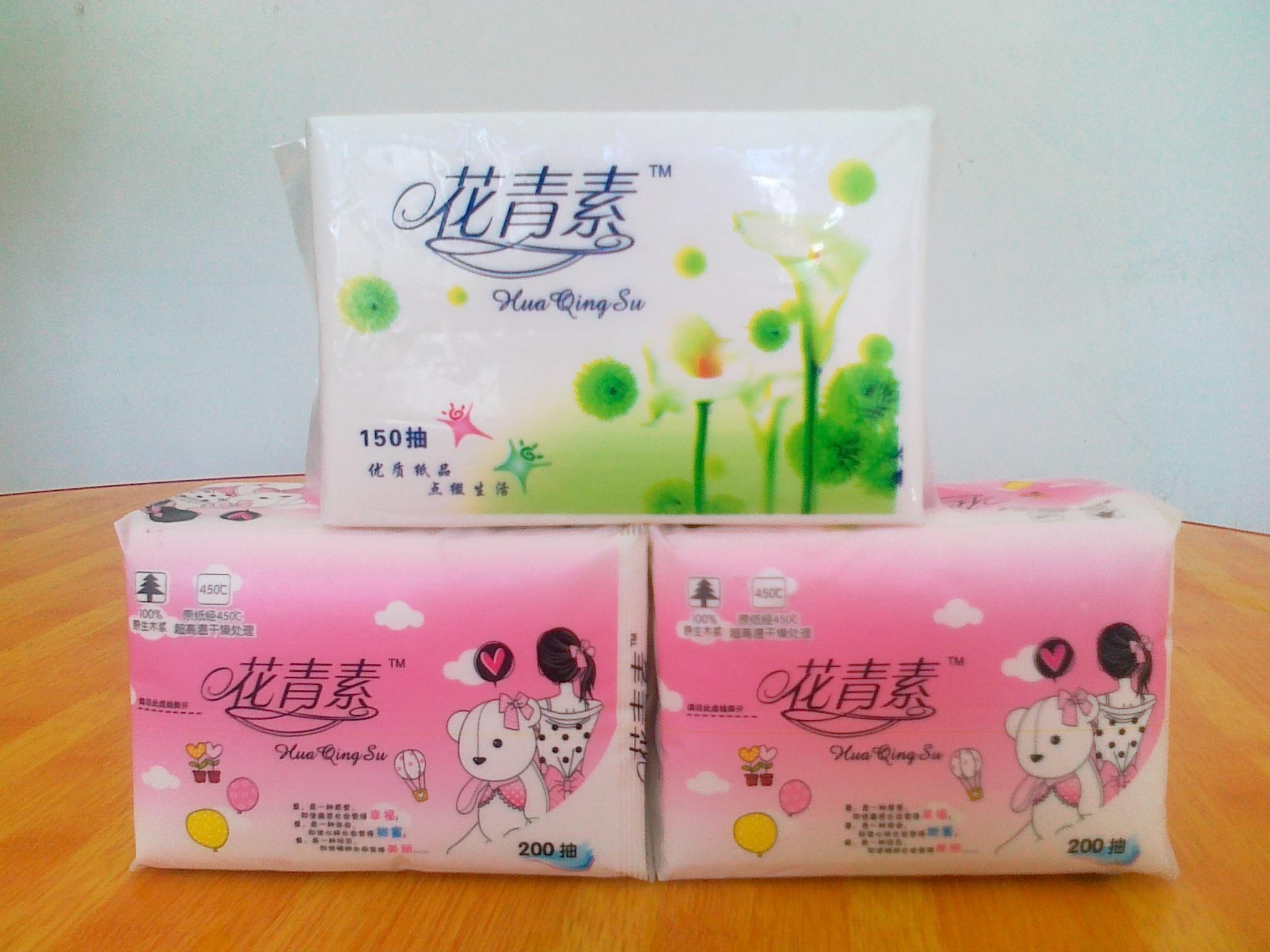 Soft Plastic Pack Facial Tissue Paper