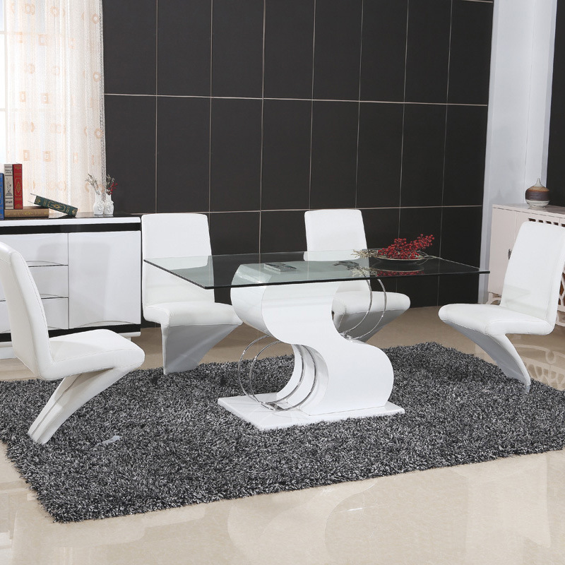 Stainless Steel MDF Dining Table with PU Chair (ET68 & EC02-1)