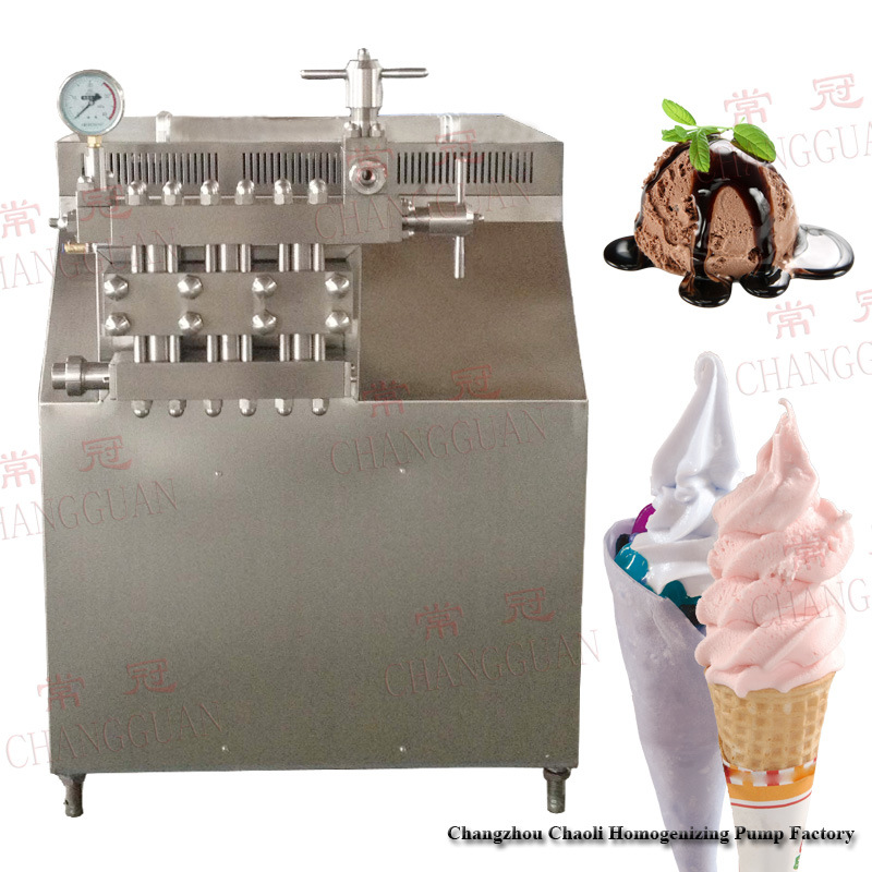 3000L/H 25MPa Hand Operated Ice Cream Homogenizer (GJB3000-25)