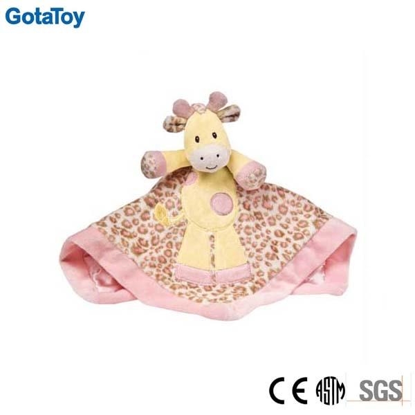 Custom Plush Baby Toy Plush Giraffe Baby Blanket Doudou
