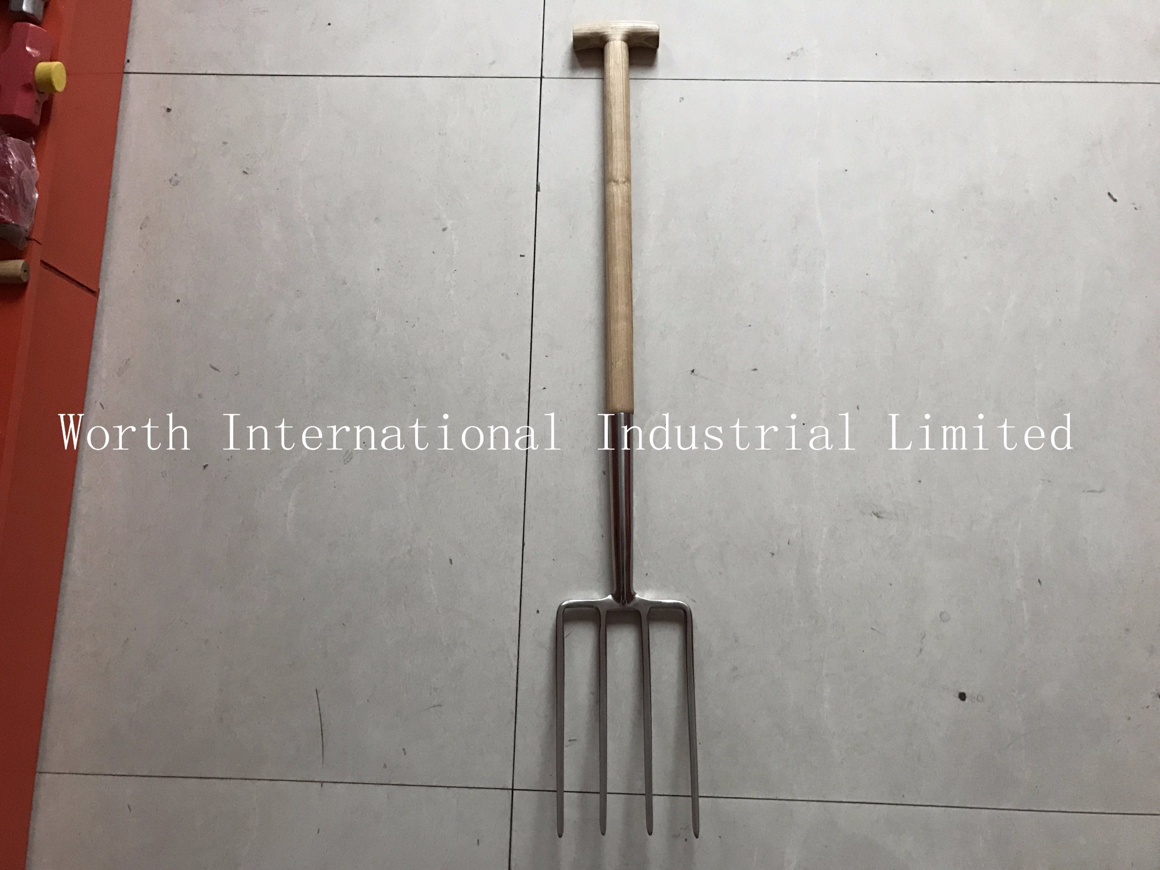 T Wood Handle Stainless Fork