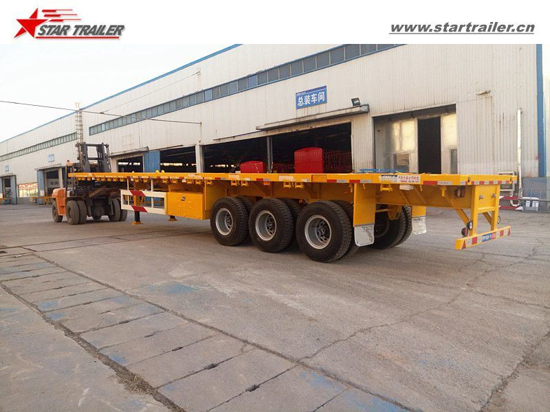 3axles Platform Cargo Trailer for Truck