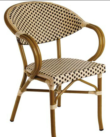 Bistro Rattan Chair Aluminum Garden Outdoor Furniture