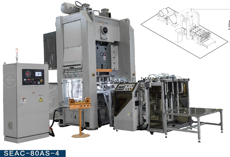 Real Automatic Aluminum Container Production Line