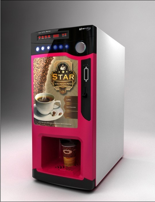 China Coin Validator Coffee Vending Machine For Instant Table Or Stand Optional Photos