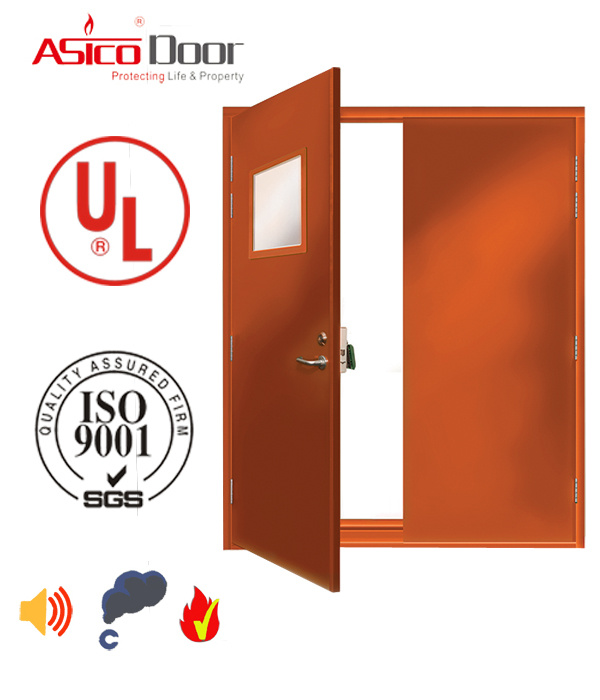 American Standard Steel Fire Safety Door with 3.0 Hours Fire Rating