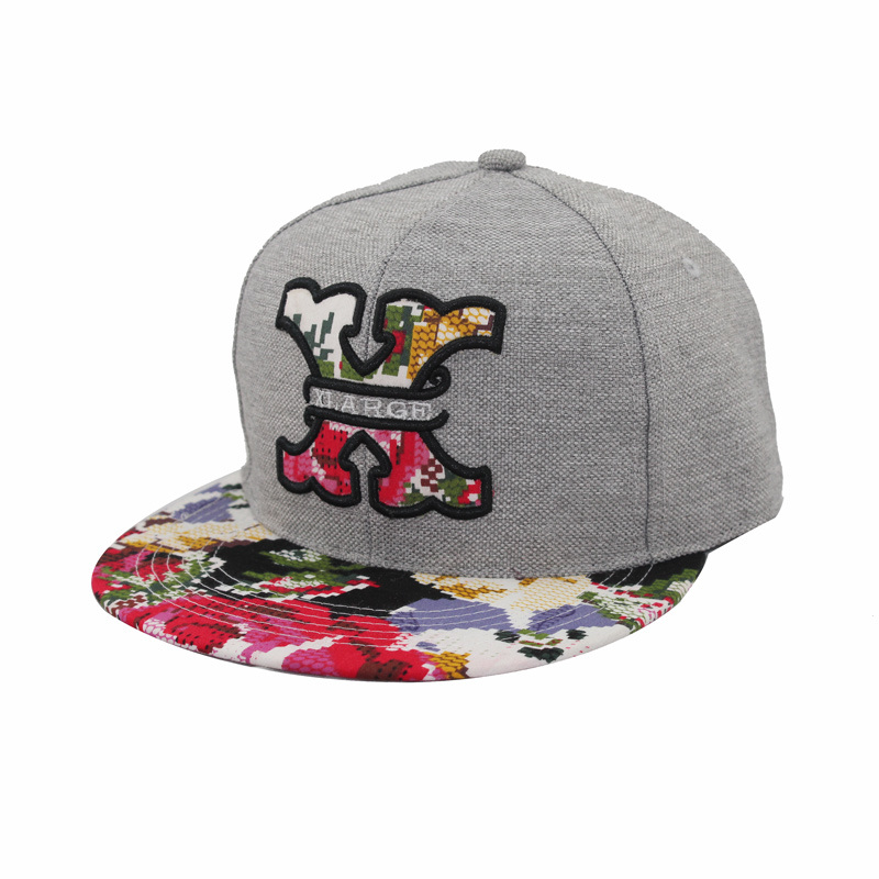 China cool embroidery and colourful design brim snapback