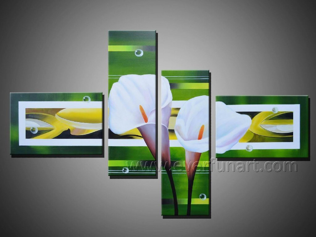 Flower Oil Painting on Canvas (FL4-016)