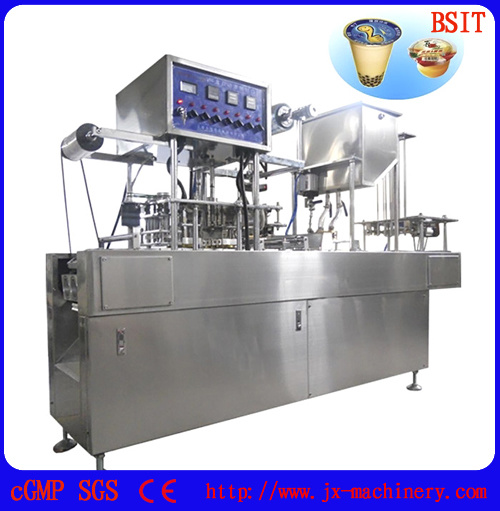 Automatic Cup Filling, Sealing and Capping Machine