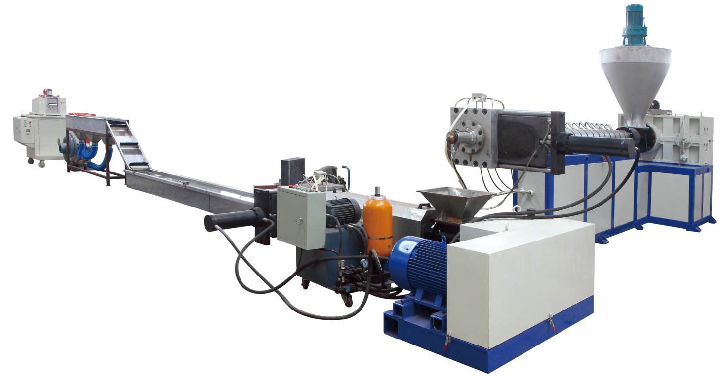 Wood Plastic and PVC Hot Cutting Granulation Line