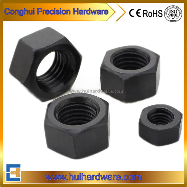 Carbon Steel Black Hex Nuts DIN 934 ISO 4032 ANSI B18.2.2