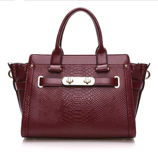 First Layer Leather Handbag Crocodile Shopping Bag Designer Handbag (XZ1025)