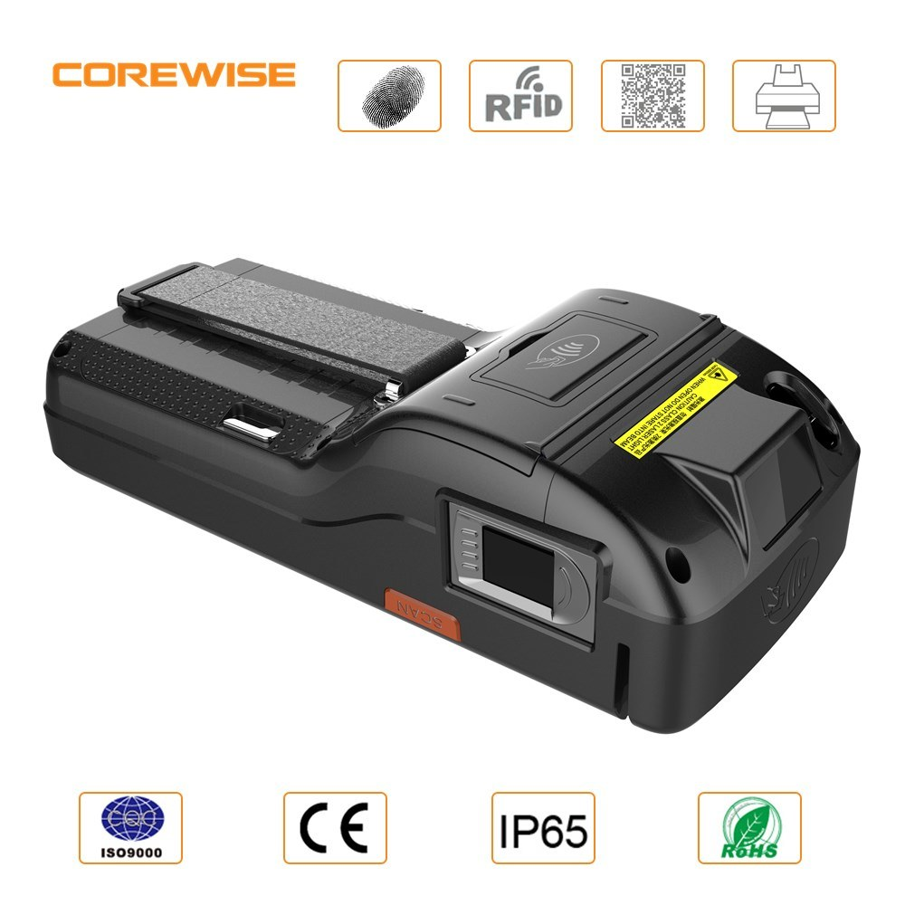 RFID Manufacturer Android POS Terminal Handheld Built-in Thermal Printer with Fingerprint Reader