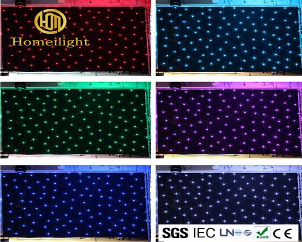 SMD5050 RGB /White LED Star Curtain for Stage Backdrop Cloth Wedding Party Show