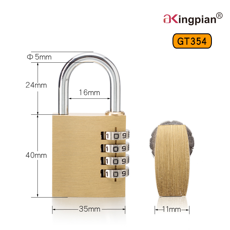 4 Digit Brass Combination Padlock and Code Padlock