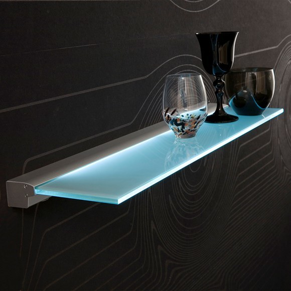 China Furniture LED Motion Sensor Glass Display Shelf