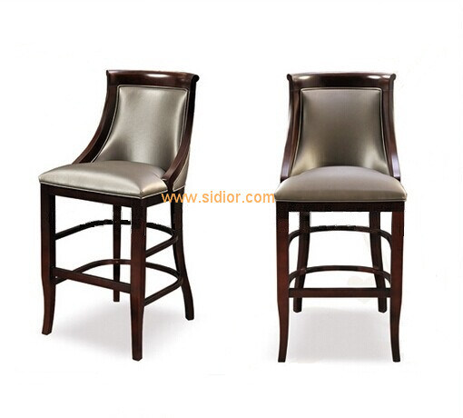 (CL-4402) Hotel Restaurant Club Furniture High Wooden Counter Bar Stool