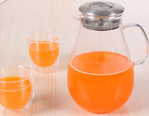 Heat Resistant Glass Kettle for Water and Drink and Coffee Glass Water Pot