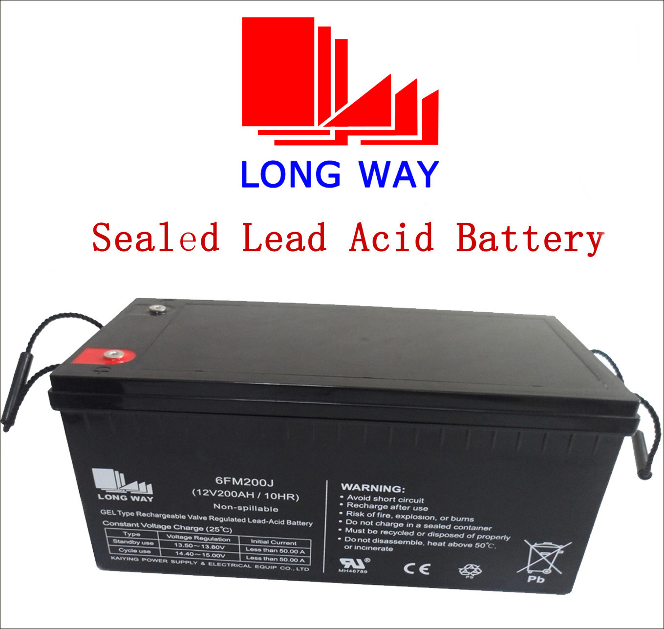 12V200ah Cable TV Gel Sealed Lead Acid Battery