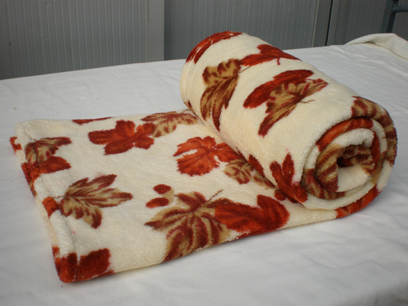 Home Textile Super Soft Coral Fleece Blanket with Flower Printing