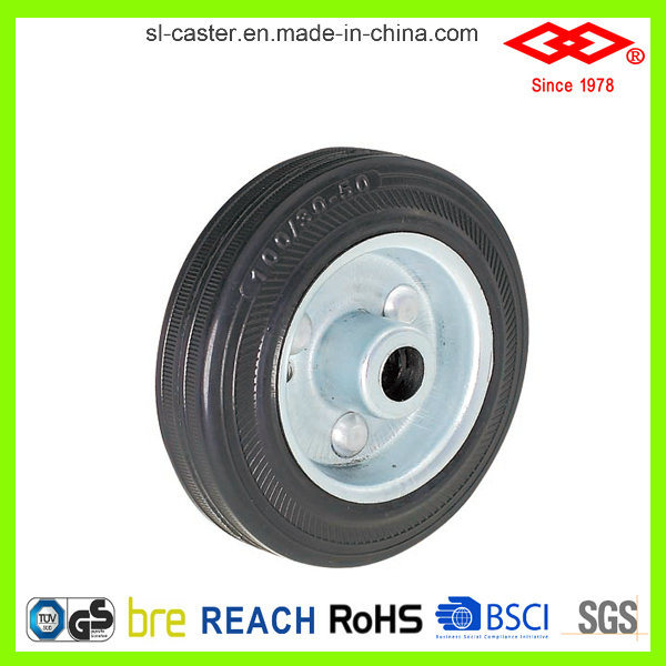 75mm Industrial Black Rubber Caster Wheel (P101-11D075X25S)