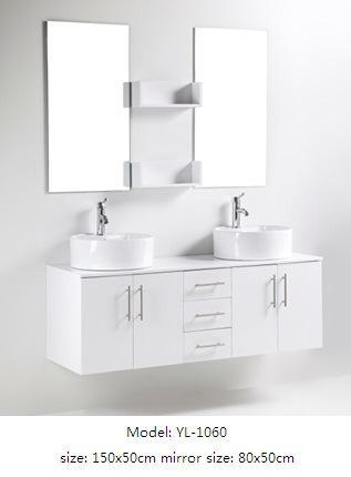 Double Sink Bathroom Furniture with MDF Veneer