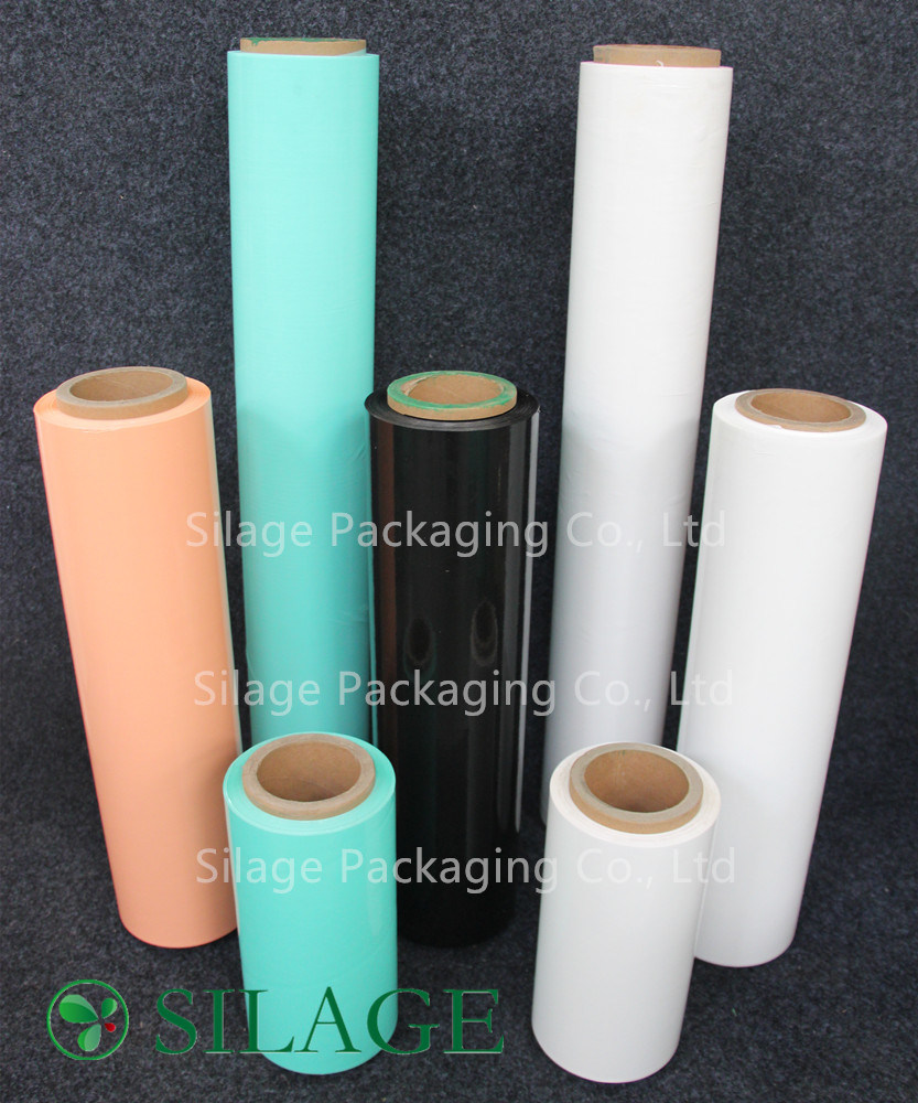 250mm*25um Blown Silage Wrap Bale Wrap Green Color Film