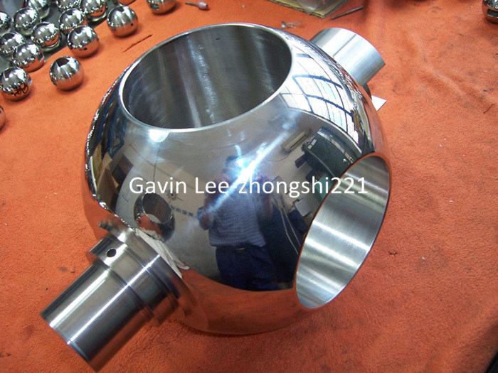 Customized Burnish Cemented Stellite 3 Ball Valve Parts