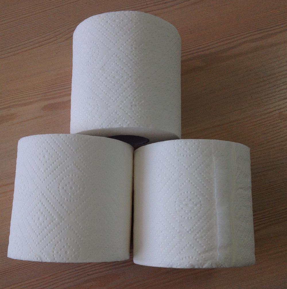 100% Virgin Pulp Toilet Paper, Premium Toilet Tissue, Embossing