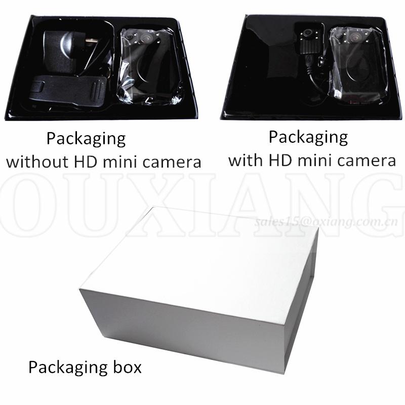 Mini Police Body Worn Video Cameras DVR Support Dual Cameras