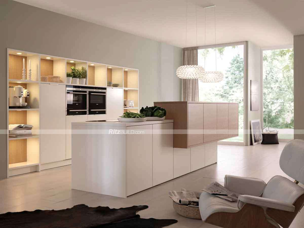 Shaker style mdf kitchen cabinet doors buy doorsmdf china for Latest model kitchen designs