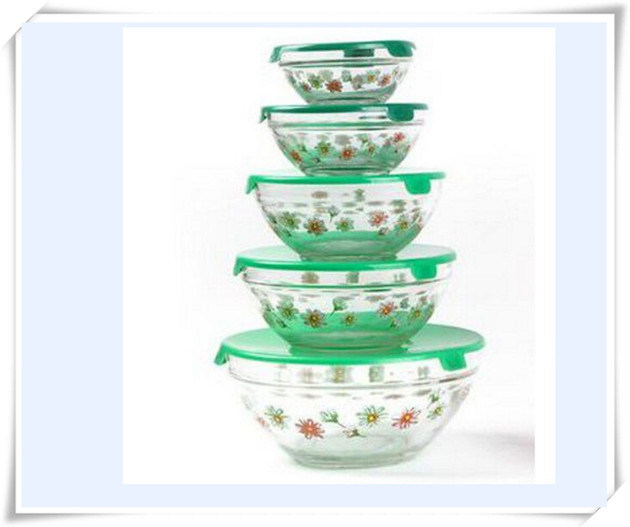 Food Storage Boxes Glass Ice Bowl