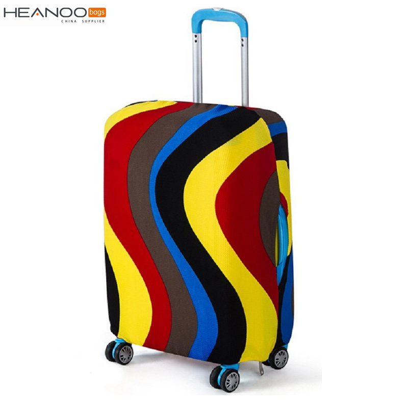 Dust-Proof Printed Elastic Spandex Travel Suitcase Protective Custom Luggage Cover