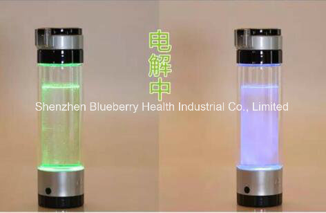 Hydrogen Water Bottle with Super Mini Titanium Plates and Built-in Rechargeable Battery