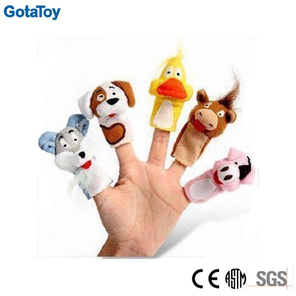 Cheap Custom Stuffed Toy Animal Plush Finger Puppet