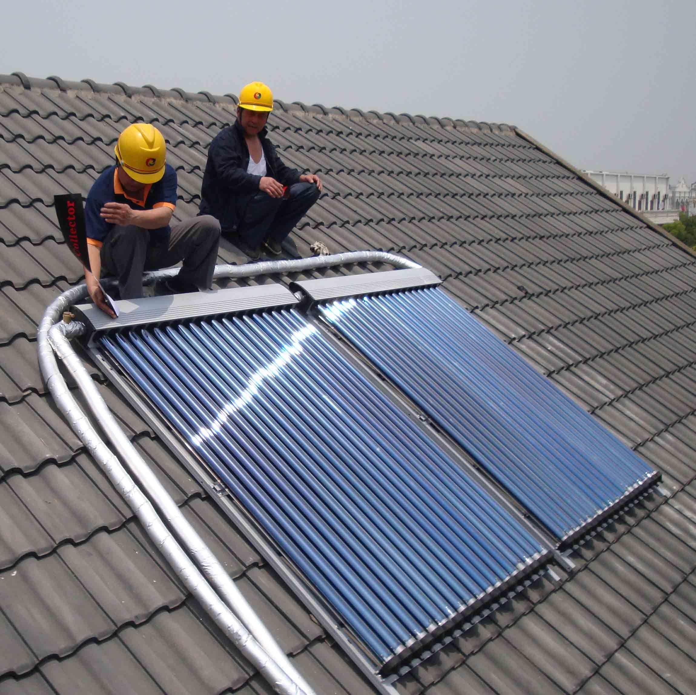 China OEM Greenhouse on Rooftop U Pipe Vacuum Solar Thermal ...
