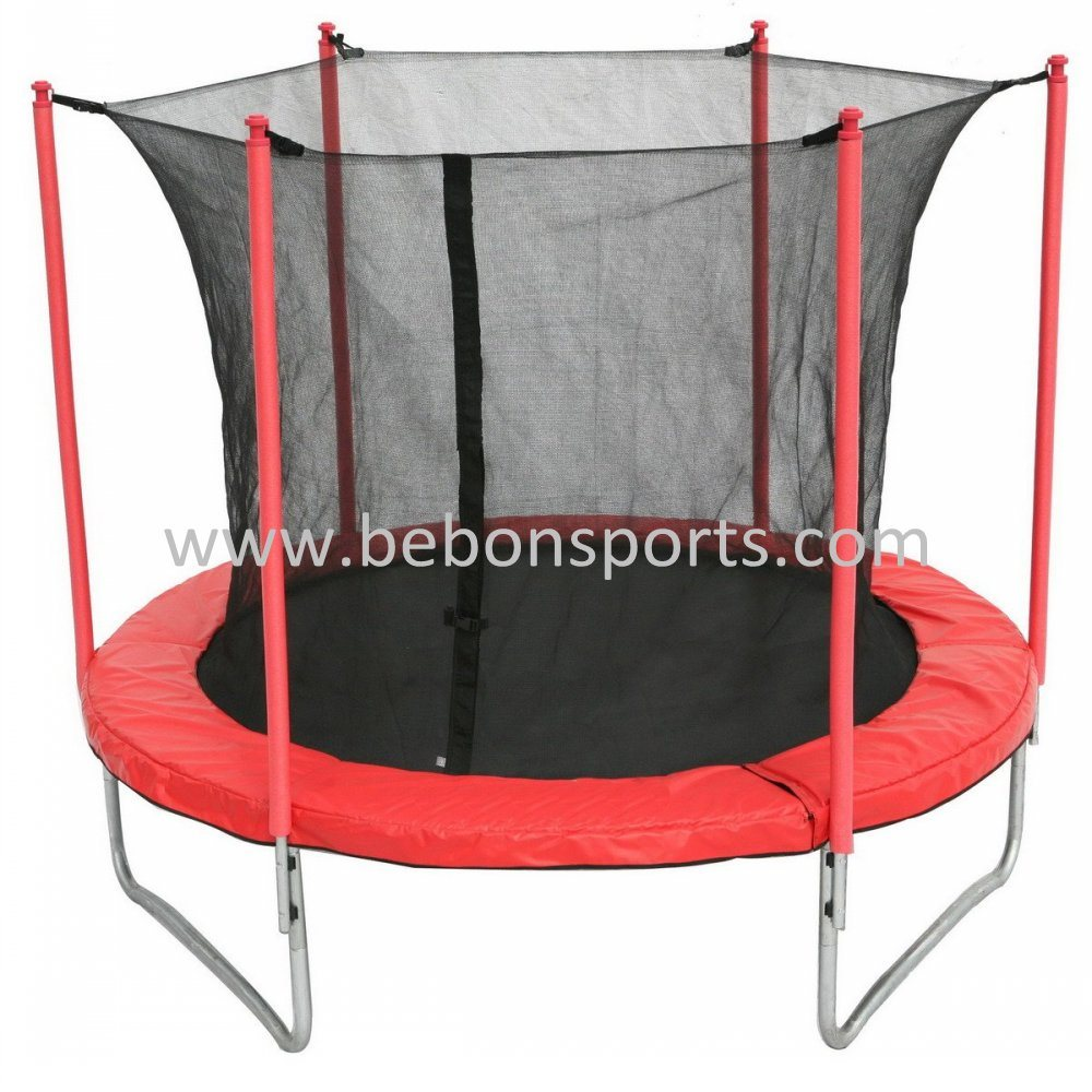 10ft 305cm Trampoline With Safety Net Red Colour