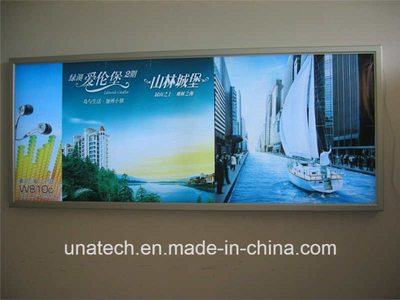 Wall Mounted LED Strip Banner Ads Aluminium Snap Frame Light Boxes