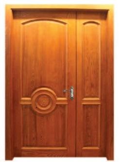 Mahogany Double Solid Entrance Wooden Door for Villa